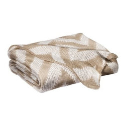 Threshold Knit Chevron Throw Blanket, Tan/Cream - Chevron lovers rejoice! This neutral knit throw is the perfect accessory.