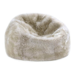 Sheepskin Bean Bag Chairs in Linen - Soft and luxurious sheepskin bean bags designed and carefully crafted to add an element of eye-catching natural texture to your home.