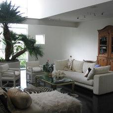 Contemporary Living Room by Karen Kitowski & Co., Inc.