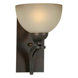 Forte Lighting - Forte Lighting 2374-01 7.75Wx11.75Hx9.75E Indoor Up Lighting Wall Sconce - Contemporary / Modern Indoor Up Lighting Wall Sconce