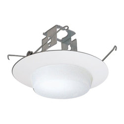 "Nora Lighting - Nora NTM-324 6"" Drop Opal Lens with Metal Trim and Bracket, Ntm-324w - 6"" Drop Opal Lens with Metal Trim and Bracket"
