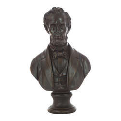 Casa de Arti - Abraham Lincoln Bust - Beautiful sculpture of President Abraham Lincoln, perfect to add to your home and office decor at an incredible price!