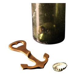 BoBo's Intriguing Objects - Anchor Bottle Opener - Bring a touch of nautical chic to your favorite setting with this good-looking brass opener. It's modeled after a vintage version found in a Belgian flea market to bring a unique vibe to your bar.