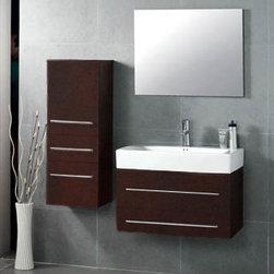 "Mist - Modern Bathroom Vanity Set 29"" - The Mist is a modern bathroom vanity set that embraces the latest trend in luxury modern bathroom design."