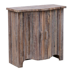Kosas Collections - Bristol Double Door Cabinet - Add a rustic look to your home with this stylish reclaimed wood double door cabinet. Specially handcrafted,this single-shelf storage cabinet has a lime wash finish that will add a vintage vibe to your room.