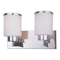 Z-Lite - Cosmopolitan Chrome 2-Bulb Vanity Light - Light bulbs not included