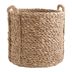 Large Woven Sea Grass Basket - These baskets are great for stylishly storing the logs for the fire.