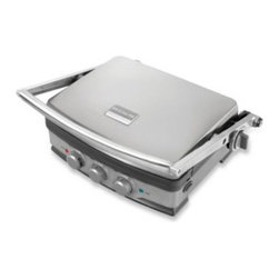 Frigidaire® - Frigidaire Professional 5- in -1 Panini Grill and Griddle - Cook to perfection the way you want to with the Frigidaire Professional 5-in-1 Panini Grill and Griddle. Pro-Select Dual-Zone temperature controls give you the option to cook on one or both of the reversible cooking plates.