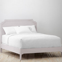 Alistair Bed - The shape of this bed is really good, and surprisingly, it's not upholstered. Check Garnet Hill's bed selection periodically, as they usually offer two or three that look really well crafted.