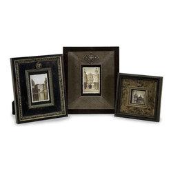iMax - iMax Embellished Frames X-3-13112 - Set of three embellished photo frames in various sizes.