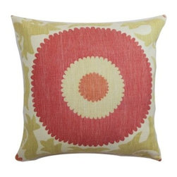 The Pillow Collection Yspaddaden Floral Pillow - Bring an instant splash of cheer into your home with the Yspaddaden Floral Pillow. This 100% cotton accent pillow features a bold red and gold design that will look great in both retro and modern settings. It's the perfect addition to a breakfast nook, living room or bedroom.About The Pillow CollectionIdentical twin brothers Adam and Kyle started The Pillow Collection with a simple objective. They wanted to create an extensive selection of beautiful and affordable throw pillows. Their father is a renowned interior designer and they developed a deep appreciation of style from him. They hand select all fabrics to find the perfect cottons, linens, damasks, and silks in a variety of colors, patterns, and designs. Standard features include hidden full-length zippers and luxurious high polyester fiber or down blended inserts. At The Pillow Collection, they know that a throw pillow makes a room.