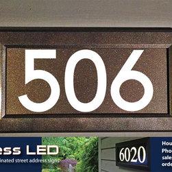 Address LED lighted address signs - illuminated house numbers - Chris Barnett
