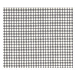 """Close to Custom Linens - 96"""" Curtain Panels, Lined, French Country Brindle Gray Gingham Check - A traditional gingham check in brindle gray on a cream background. Includes two panels and two tiebacks."""