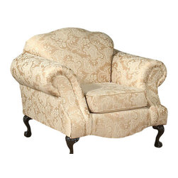 Chelsea Home Furniture - Chelsea Home Queen Elizabeth Chair in Madison Straw - Fabric Swatch Fabric Sample Avaliable by Mail, Cover Choices Madison Straw, Frame Construction Hardwood frame, Cushion Composition Dacron Wrapped 15 Density foam Cushions, Fabric Polyester Blend, Chair 1