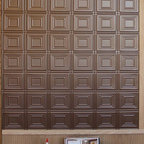 Customers who've used our products - Bronze Allusions tiles used as wall covering. in home entryway. Easily glues straight to any flat surface, cuts with a pair of scissors or utility knife.