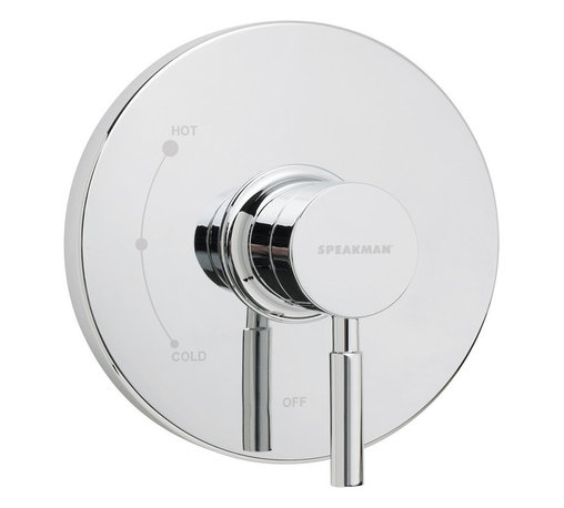 Speakman - Speakman Neo Collection Pressure Balance Valve Trim in Polished Chrome - The Speakman Neo Collection Thermostatic Pressure Balance Valve Trim adds the perfect touch of modern elegance to any bathroom with its smooth contour and soft detail. Available in polished chrome and brushed nickel, this shower valve trim is refined yet simple, making it suitable for timeless bathroom designs. Designed to fit Speakman's Thermostatic Pressure Balance Valve and constructed of lightweight patented Speakman plastic, this valve trim is ideal for updating or touching up a contemporary style bathroom. Pair with Neo Collection showerheads, bath faucets and other bathroom accessories to create your dream bathroom