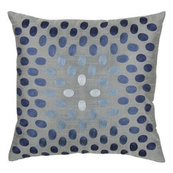 Rizzy Home - Gray and Blue Decorative Accent Pillows (Set of 2) - T3070A - Set of 2 Pillows.