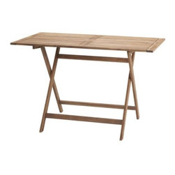 IKEA of Sweden - Bollö Folding Table - This narrow table is the perfect size to fit into any nook, and the fact that it will not take up much room when stored away is a bonus.