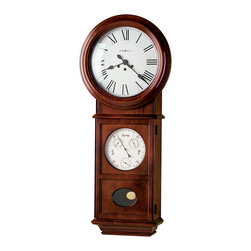 Howard Miller - Howard Miller Key Wound Unique Grandfather Wall Clock | LAWYER II - 620249 Lawyer II