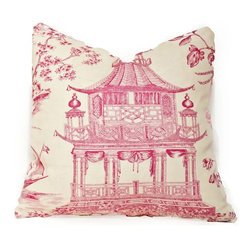 Chinoiserie Chic Pillow, Hot Pink