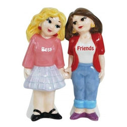 Westland - 4 Inch Best Friends Blonde and Brunette Female Salt and Pepper Shakers - This gorgeous 4 Inch Best Friends Blonde and Brunette Female Salt and Pepper Shakers has the finest details and highest quality you will find anywhere! 4 Inch Best Friends Blonde and Brunette Female Salt and Pepper Shakers is truly remarkable.
