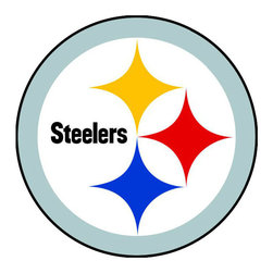 Brewster Home Fashions - NFL Pittsburgh Steelers Teammate Logo Wall Sticker Decal - FEATURES: