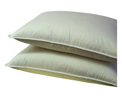 """Bed Linens - Down Alternative Pillow, White - Down alternative bedding overfilled 30 ounces of Micro-Denier fiber for the softness of a pure down pillow * King size pillows, 20x36"""" each. * Pillows include durable 100% Egyptian cotton covers * 300 Thread count cover Machine wash"""