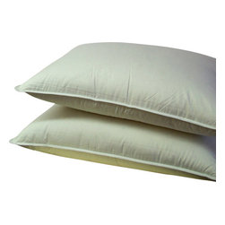 "Bed Linens - Down Alternative Pillow, White - Down alternative bedding overfilled 30 ounces of Micro-Denier fiber for the softness of a pure down pillow * King size pillows, 20x36"" each. * Pillows include durable 100% Egyptian cotton covers * 300 Thread count cover Machine wash"
