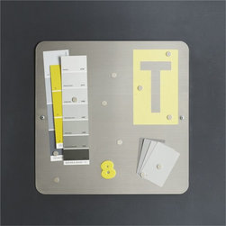 Three by Three Magnetic Stainless Board - Hang a stylish command center in your kitchen. I love the simplicity of this magnetic board for keeping important information at my fingertips.