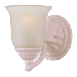 Crystorama - Crystorama Paris Flea Market Bathroom Lighting Fixture in Blush - Shown in picture: Blush Bath Bar Accented with White Glass; Antique Brass Bath Bar Accented with Ivory Glass