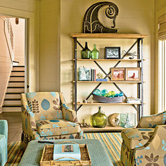Mixed Accessories in neutral den - 50 Comfy Cottage Rooms - Photos - CoastalLivi