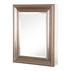 Pegasus - Pegasus Deco 20W x 26H in. Brushed Nickel Framed Medicine Cabinet SP4595 Multico - Shop for Bathroom Cabinets from Hayneedle.com! It's your face you're going to be seeing in the mirror of the Pegasus Deco 20W x 26H in. Brushed Nickel Framed Medicine Cabinet SP4595 so doesn't your face deserve an appealing frame? The classic style of the brushed nickel frame is complemented by the beveled mirror but behind the door you'll also enjoy three adjustable shelves inside a body of rust-proof aluminum. Access won't be a problem when you open the door with the solid self-closing hinges that can be extended to 110 . This attractive cabinet is designed to give you the option of hanging it directly on the wall or flush-mounting as necessary.About PegasusThink Pegasus when it comes to kitchen or bath needs. Pegasus is widely known for their signature faucets unique bath accessories and furniture vanities mirrors pedestal sinks toilets and kitchen sinks. Pegasus offers special collections featuring products that coordinate with an elegant yet sophisticated style. With designs spanning from tasteful and traditional to streamlined and contemporary Pegasus provides high-quality products and fixtures for a reasonable cost and promotes the philosophy of luxury without the extravagance.
