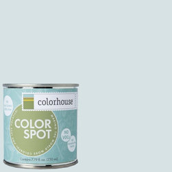 ColorSpot Eggshell Interior Paint Sample, Air .06,  8-oz - Test color before you paint with the Colorhouse Colorspot 8-oz  paint sample. Made with real paint and in our most popular eggshell finish, Colorhouse paints are 100% acrylic with NO VOCs (volatile organic compounds), NO toxic fumes/HAPs-free, NO reproductive toxins, and NO chemical solvents. Our artist-crafted colors are designed to be easy backdrops for living.