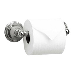 Renovators Supply - Toilet Paper Holder Chrome Liberty Tissue Holder - Chrome tissue holder measures 2 7/8 in. high approximately and 8 1/2 in. wide and projects 3 3/4 in.