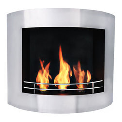 "Bioflame Prive 13"" Burner Stainless Steel Wall Mounted 12,000 BTU  Fireplace - 40024001Features:     - 12,000BTU or 3.5Kw/h (heats on average 40m2 or 430ft2) - Stainless Steel Firebox Construction- Brushed Stainless Steel Fascia - 13"" Burner - H 27.0"" (686mm) W 34.4"" (874mm) D 10.8"" (275mm)FuelWant to know something sweet about the ethanol fuel used in Bio Flame fireplaces? It's all based on sugars!That's right, the Bio Flame ethanol fuel is so environmentally friendly that it is created through a fermentation process of sugars, including those from sugar cane, corn, beets, and potatoes. These natural, all-reable resources work together to create an ethanol fuel source that provides not only heat, but a beautiful, dancing flame, as well.Some of the additional benefits of using the Bio Flame ethanol fuel include:Environmentally friendly. Ethanol fuel is all-natural and made from reable resources. This means that you are not cutting down valuable trees that take much longer to regenerate.Better breathing. There is no air pollution with the Bio Flame ethanol fuel. This means that you, as well as everyone else, help to keep chemicals and toxins from being released into the air. You will breathe better in your home, and everyone else benefits from the reduction of pollutants, as well. There's no odor or smoke to worry about, either, providing you with a safe flame.Cleaner source. Ethanol fuel creates a clean heat source, eliminating the need to worry about cleaning soot or ash. Cleaning the Bio Flame fireplace is a breeze.Super simple. The ethanol fuel used in the Bio Flame fireplace is simple to use. Within seconds, you will have it refilled, never having to worry about spills or trekking out into the cold weather for another log.The Bio Flame environmentally friendly fireplaces use ethanol fuel, because it provides a better heat choice for you, and for everyone else. You never compromise on having a beautiful-looking fireplace, warmth, and a beautiful flame. Ethanol fuel provides all the things you want, and nothing you don't. When it comes to having a fireplace, it doesn't get much sweeter than that!Benefits of an Ethanol Fireplace When it comes to purchasing a fireplace, you have a lot of options  available to you. But that doesn't mean they are all going to give you  great benefits. Sure, they will all provide you with some heat (or at  least should) but, for some fireplaces, that is where the benefits both  begin and end. When you choose a Bio Flame environmentally friendly  fireplace, you get a list of benefits, some in areas you may not even  have thought about! Here are some of the benefits you will get by using a Bio Flame ethanol fuel fireplace:No heat loss. With a traditional fireplace that has  a chimney, you will lose 70 percent of the heat, and will only get to  warm your home with 30 percent. With a Bio Flame ethanol fuel fireplace,  however, your home will get 100 percent of the   heat. There is no  chimney, so all the heat stays in the home.Reable resources. Ethanol fuel that is used in  the Bio Flame fireplace is made from sustainable resources. The ethanol  fuel is made from fermenting sugars, including the use of cane sugar,  beets, potatoes, and corn. Our oxygen-producing trees never get cut  down, just to be burned up.No air pollution. Traditional fireplaces put a lot  of pollutants into the air, including chemicals, smoke, and toxins. The  Bio Flame ethanol fireplace burns clean, so you never have to worry  about any air pollution from it, nor about any ash, soot, or smoke.Beautiful appearance. Many people fall in love with  the beautiful, stylish designs in which the Bio Flame ethanol  fireplaces are available. They can make any home or office look  top-notch.All natural. The ethanol fuel that is used in the  Bio Flame environmentally friendly fireplace is all-natural. Made from  plant-based materials, it is harmless, and free of toxins.Super easy. Not only is the ethanol fireplace  simple to use, but the ethanol fuel takes only seconds to refill.  Setting up the ethanol fireplace for the first time is also a breeze,  with most people having it ready to use within 30 minutes. Obtaining  ethanol fuel is also a much easier process than trying to obtain wood to  burn.Custom design options. Bio Flame will consider  custom-design options, so if you have something in mind that you want,  let them know. Chances are, they can help meet your needs.From retaining more heat to being environmentally friendly and looking  great, the ethanol fuel fireplace comes with a host of benefits. These  are all things to consider and compare when deciding which fireplace is  the right one for you. We are confident that you won't find any other  fireplace that comes close to offering all these benefits! 4001b"