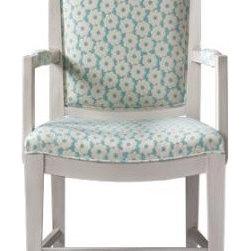 Dorothy Draper Floral Back Armchair -