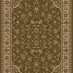 """Radici USA - Traditional Como Hallway Runner 2'2""""x7'7"""" Runner sage Area Rug - The Como area rug Collection offers an affordable assortment of Traditional stylings. Como features a blend of natural sage color. Machine Made of Olefin the Como Collection is an intriguing compliment to any decor."""