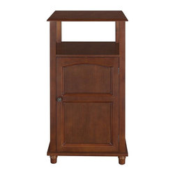 Elegant Home Fashions - Martha Floor Cabinet 1 Door and Open Shelf - The Martha Floor Cabinet from Elegant Home Fashions features a beautiful mahogany wood veneer in a salvage wood finish. The classic arch design enhances the classic look of this piece. It provides ample space with one fixed and one open shelf to store various daily necessities.
