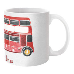 London Transport Mug - The London Transport Mug will brighten anyone's day with its fun artistic red London bus design. Mix and match with the A Spot of Tea Mug for an eclectic London cafe feel. The ceramic mug is dishwasher and microwave safe, making it an all round favorite for that serving of tea.