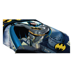 Franco Manufacturing - Batman Twin-Full Comforter Rooftop Superhero Bedding - Features: