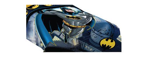 Franco Manufacturing - Batman Twin-Full Comforter Rooftop Superhero Bedding - Features: