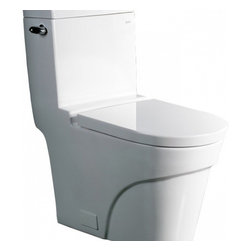 "Ariel - Ariel Platinum ""Oceanus""  Contemporary One Piece White Toilet 29x15x31 - Ariel cutting-edge designed one-piece toilets with powerful flushing system. It?s a beautiful, modern toilet for your contemporary bathroom remodel. Dimensions: 29 x 15 x 31, UPC Approved, 12"" Rough in For easy standard installation, High Quality Glaze that resist stains and Microbes, Seat is Included with the Toilet, Single flush (1.6gpf), Elongated Bowl, One Piece Construction for Clean modern look"