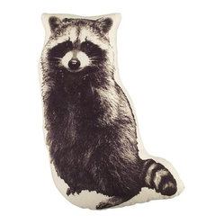 Camp Raccoon Throw Pillow - Scott and I all about adding the unexpected to a room — injecting fun is a must! — so I love the idea of tossing in this raccoon pillow for a dose of humor.
