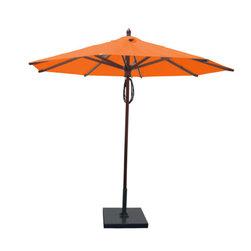 Greencorner - 9' Octagon Mahogany Umbrella, Orange - 9' Octagon