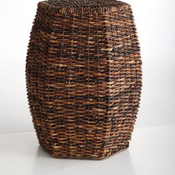 "Horchow - Madras Garden Seat - Exclusively ours. A fresh take on the classic garden stool, this beauty brings rustic charm to the room with its hexagonal shape and eco-friendly fibers. Made of handwoven abaca over metal frame. 14.25""W x 15.75""D x 20.25""T. Imported."