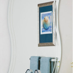 None - Frameless Wave Wall Mirror - This frameless wall mirror will add a simple yet elegant flair to your home. Use it in your living room as a decorative touch,or by the front door,so you can double-check your appearance as you head out for the day. Mounting hardware is included.