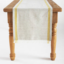Coyuchi - Coyuchi Drifting Stripe Sunflower Table Runner - I love the double lines on this table runner. They're a subtle way to add a spark of yellow to your dining room.