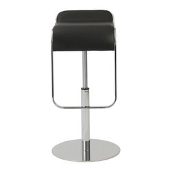 Euro Style - Euro Style Freddy Adjustable Bar or Counter Stool 04387BLK - OK. If you look at Freddy from the side it looks like a really nice chair stuck upside down on a polished steel base. But appearances can be deceiving. In fact, this is deceptively well made bar/counter stool that is fully adjustable and fully assembled. Bottoms up?
