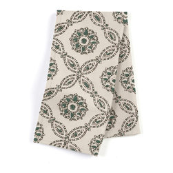 "Teal Medallion Tiled Block Print Custom Napkin Set - Our Custom Napkins are sure to round out the perfect table setting""""_whether you're looking to liven up the kitchen or wow your next dinner party. We love it in this detailed medallion trellis blockprinted in teal & green. a touch of india to temper your wanderlust."