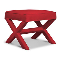 X-Bench, Belgium Tomato - I love X-benches. They are such a classic staple in home decor.